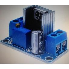 Spänningsregulator modul, LM317, justerbar 1,2-37 V, max 1,5A